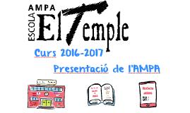 Presentació Ampa curs 2016-2017