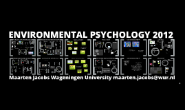 Copy of Environmental Psychology 2012