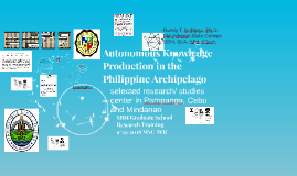 Autonomous Knowledge Production in the Philippine Archipelag