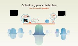 Criterios y procedimientos