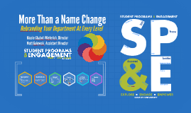 Copy of More Than a Name Change: Rebranding Your Department At Ever