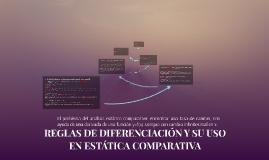 REGLAS DE DIFERENCIACIÓN Y SU USO EN ESTÁTICA COMPARATIVA
