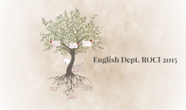 English Dept. ROCI 2015