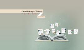 Functions of a Teacher