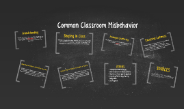 Common Classroom Misbehaviors