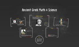 Copy of Ancient Greek Math & Science Prezi