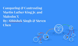Copy of Comparing & Contrasting Martin Luther King Jr. and Malcolm X