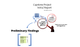 Capstone Initial Project Report
