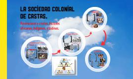 Peninsulares y Criollos, Esclavos Africanos, Indígenas, y Ladinos.