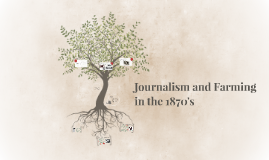 Journalism and Farming in the 1870's