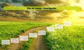 Plan de trabajo - Investigación