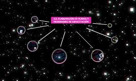 2.5. ELABORACIÓN DE PLANES Y PROGRAMAS DE CAPACITACIÓN