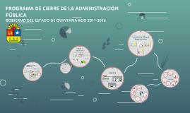 TERE PROGRAMA DE CIERRE DE LA ADMINISTRACIÓN PÚBLICA