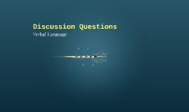 Verbal Language Discussion