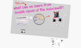 Copy of Yr 9: SPR1: L2: What can we learn from Jewish views of the Holocaust?