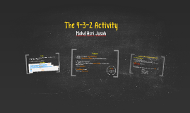 The 4-3-2 Activity