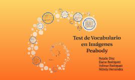 Copy of Test de Vocabulario en Imágenes Peabody