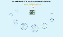 ASUSERVICIO NO CONFORMIDAD, ACCIONES CORRECTIVAS Y PREVENTIVAS 2018