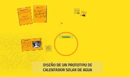 EL CALENTADOR SOLAR DE AGUA ECOLOGICO