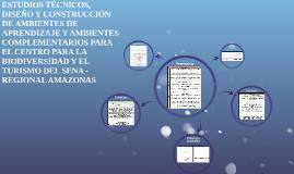 ESTUDIOS TÉCNICOS, DISEÑO Y CONSTRUCCIÓN DE AMBIENTES DE APR