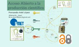 Acceso Abierto a la producción científica