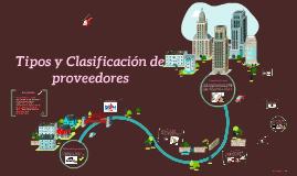 Copy of Tipos y Clasificación de proveedores