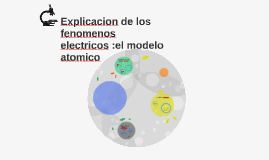 Copy of Explicacion de los fenomenos electricos :el modelo atomico