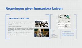 Regeringen giver humaniora kniven