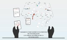 VARIABLES E INDICADORES EN EL PROCESO DE INVESTIGACIÓN