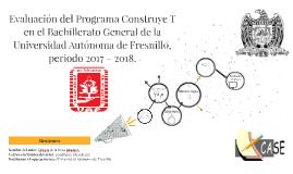 Evaluación del Programa Construye T en el Bachillerato Gener