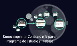 Cómo imprimir Contrato e I9 para Programa de Estudio y Traba