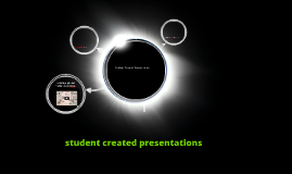 Student Created Presentations