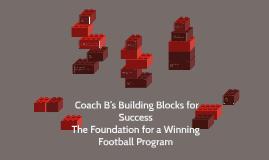 Coach B's Building Blocks for Success