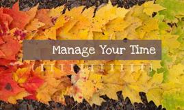 管理你的时间Manage your time