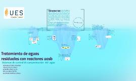 Tratamiento de aguas residuales con reactores uasb