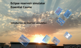 Eclipse reservoir simulation course