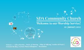 SDACC Worship - 10 January 2015