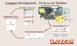 Langton Development - Masterplanning Process (Shareholders Presentation)