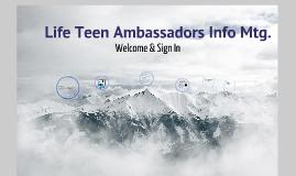 LT Ambassadors Mtg.
