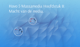 Havo 5 Massamedia Hoofdstuk 8: Macht van de media.