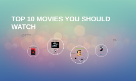 TOP 10 MOVIES YOU SHOULD WATCH