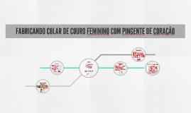 FABRICANDO COLAR DE COURO FEMININO COM PINGENTE DE CORAÇÃO