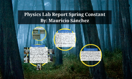 Lab report springs