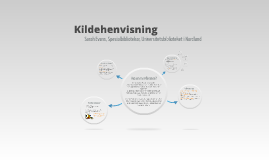 Referansehåndtering modul 2013