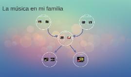 La música en mi familia