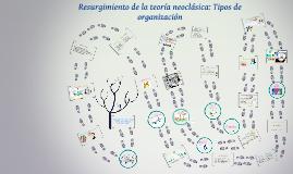 Copy of Resurgimiento de la teoría neoclásica: Tipos de organización