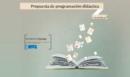 Propuesta de programación didáctica. 2º de Bachillerato.