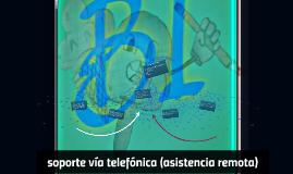 soporte via telefonica (asistencia remota)