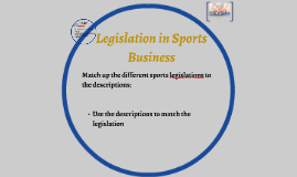 legislation in sports business