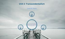 Unit 2: Transcendentalism Project